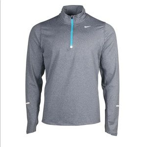 Nike Men's Element Half Zip Gamma Blue/Silver M